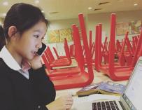 Fotografía de Hillary Yip, la emprendedora más joven del mundo.