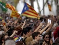 Una de las marchas en favor del independentismo