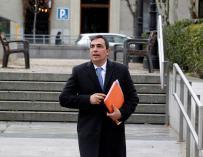 Pere Soler a la salida de la Audiencia Nacional