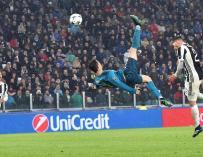 Fotografía de la chilena de Cristiano Ronaldo ante el Juventus