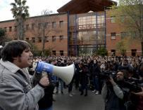 Fotografía manifestación alumnos de Universidad Rey Juan Carlos