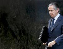 El expresidente de Caja Madrid Miguel Blesa a su salida de la Audiencia Nacional EFE