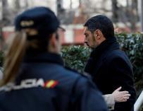El exjefe de los Mossos d`Esquadra, Josep Lluis Trapero, a su llegada a la Audiencia Nacional