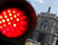 Fachada de la sede del Banco de España en la plaza de Cibeles de la capital.