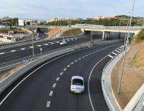 Imagen del enlace de la autopista C-32 en Mataró.