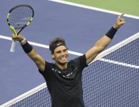 Rafa Nadal celebra el triunfo en el US Open en Nueva York - FOTO: EFE/EPA/BRIAN HIRSCHFELD
