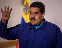El presidente de Venezuela, Nicolás Maduro, durante un acto