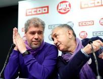 Unai Sordo y Pepe Álvarez. / EFE