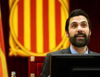 El presidente de la Cámara catalana, Roger Torrent
