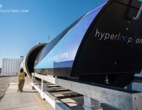Fotografías de la construcción del Hyperloop One.