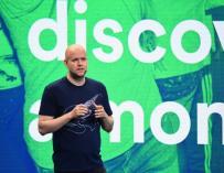Daniel Ek, CEO de Spotify durante una rueda de prensa / Spotify