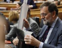 Mariano Rajoy durante una sesión de control al Gobierno
