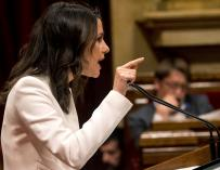 Inés Arrimadas critica la falta de programa de Torra