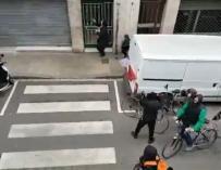 Captura de un vídeo que circula por las redes sociales de una presunta agresión