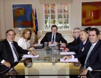 Rajoy y Báñez retomaron el diálogo con los agentes sociales.