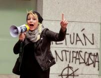 Melisa Ruiz, portavoz de la organización neonazi