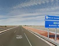 Autopista A-4 a su paso por Valdepeñas.