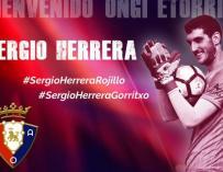 Sergio Herrera, nuevo ídolo del Osasuna