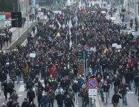 Manifestación en Italia contra la Liga Norte