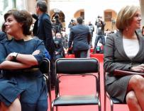 Soraya y Cospedal en la conmemoración del 2 de mayo