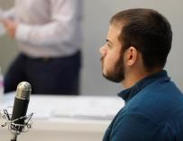 Fotografía de Pablo Hasel en el juicio.
