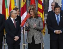 Cristóbal Montoro con barones regionales