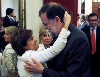 Mariano Rajoy se despide de Soraya Sáenz de Santamaria