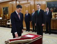 En directo| Pedro Sánchez promete el cargo sin símbolos religiosos