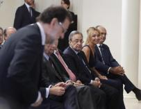El expresidente Mariano Rajoy, en un acto con Florentino Pérez.