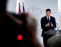 Fotografía Pedro Sánchez durante la rueda de prensa