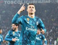 Fotografía de Cristiano Ronaldo, Real Madrid, celebrando un gol