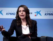 La líder de Ciudadanos en Cataluña, Inés Arrimadas en la XXXIV Reunión Anual del Círculo de Economía en Sitges (Barcelona). EFE/Susanna Sanz