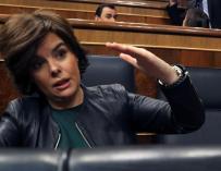 Soraya Sáenz de Santamaría, este martes en el Congreso.