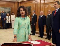 María Jesús Montero promete su cargo como nueva ministra de Hacienda