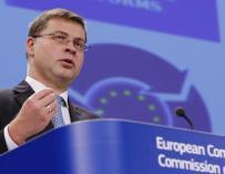 El vicepresidente de la Comisión Europea responsable del euro, Valdis Dombrovskis.