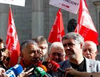 Los secretarios generales de UGT y CCOO, Pepe Álvarez y Unai Sordo