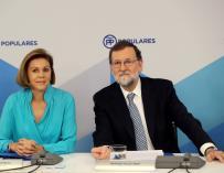 Rajoy y Cospedal durante el Comité Ejecutivo del PP./EFE