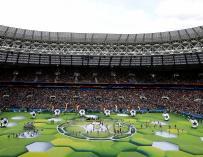 Imagen de la ceremonia de inauguración del Mundial de Rusia. / EFE