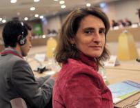 Teresa Ribera, ministra responsable de energía y cambio climático.