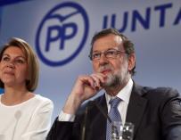 Mariano Rajoy y Dolores de Cospedal