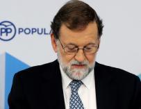 Rajoy, durante el último comité del PP./ EFE