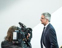Rupert Stadler durante una rueda de prensa en la sede de la compañía en Ingolstadt (Alemania)
