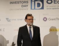 El ex presidente del Gobierno, Mariano Rajoy, en el Spain Investors Day.