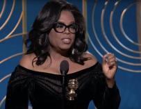 Oprah Winfrey durante su discurso en los Globos de Oro / YouTube