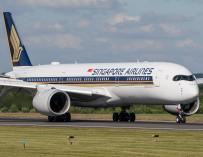 Fotografía de un avión de Singapore Airlines.