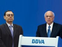 El exdirector general del BIS, Jaime Caruana, y el presidente de BBVA, Francisco Gonzalez. Fotomontaje La información.com/Efe