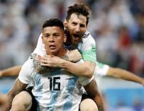 Argentina pasa a octavos