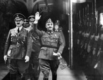Fotografía de Franco y Hitler en Hendaya.