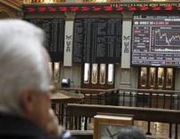 Patio de la Bolsa de Madrid.