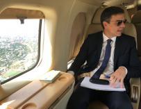 """Pedro Sánchez avanzó que volaba a Bruselas """"para defender la Europa de los derechos sociales y luchar contra la xenofobia"""" (@desdelamoncloa)"""